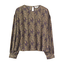 Buy Toast Lake Dahl Printed Top, Slate Online at johnlewis.com