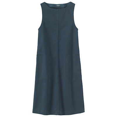 Toast Dakar Sleeveless Workwear Dress, Blue Slate