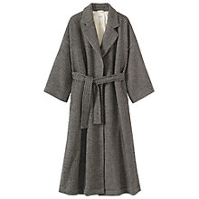 Buy Toast Herringbone Wool/Linen Coat, Black/Ecru Online at johnlewis.com