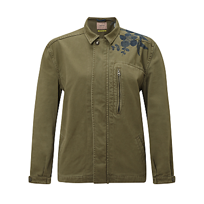 Maison Scotch Army Jacket With Embroidery, Green