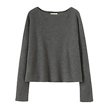 Buy Toast Square Cut Merino Wool Jumper, Mid Grey Melange Online at johnlewis.com