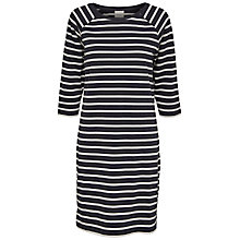Buy Selected Femme Natali Stripe Jersey Dress, Dark Sapphire/Snow White Online at johnlewis.com