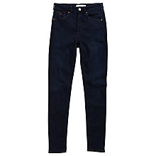Buy Maison Scotch Haute High Rise Straight Leg Jean, Dark Blue Online at johnlewis.com