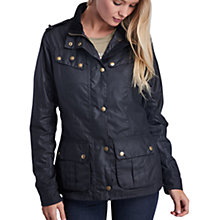 Buy Barbour International Hairpin Wax Jacket, Black Online at johnlewis.com