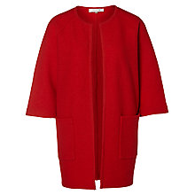 Buy Selected Femme Darla Merino Wool Cardigan, Flame Scarlett Online at johnlewis.com