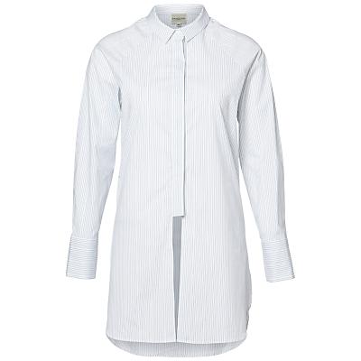 Selected Femme Balia Long Stripe Shirt, Optical Snow Stripes