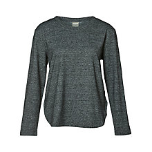 Buy Selected Femme Lissa Loose Fit Sweatshirt, Dark Grey Melange Online at johnlewis.com