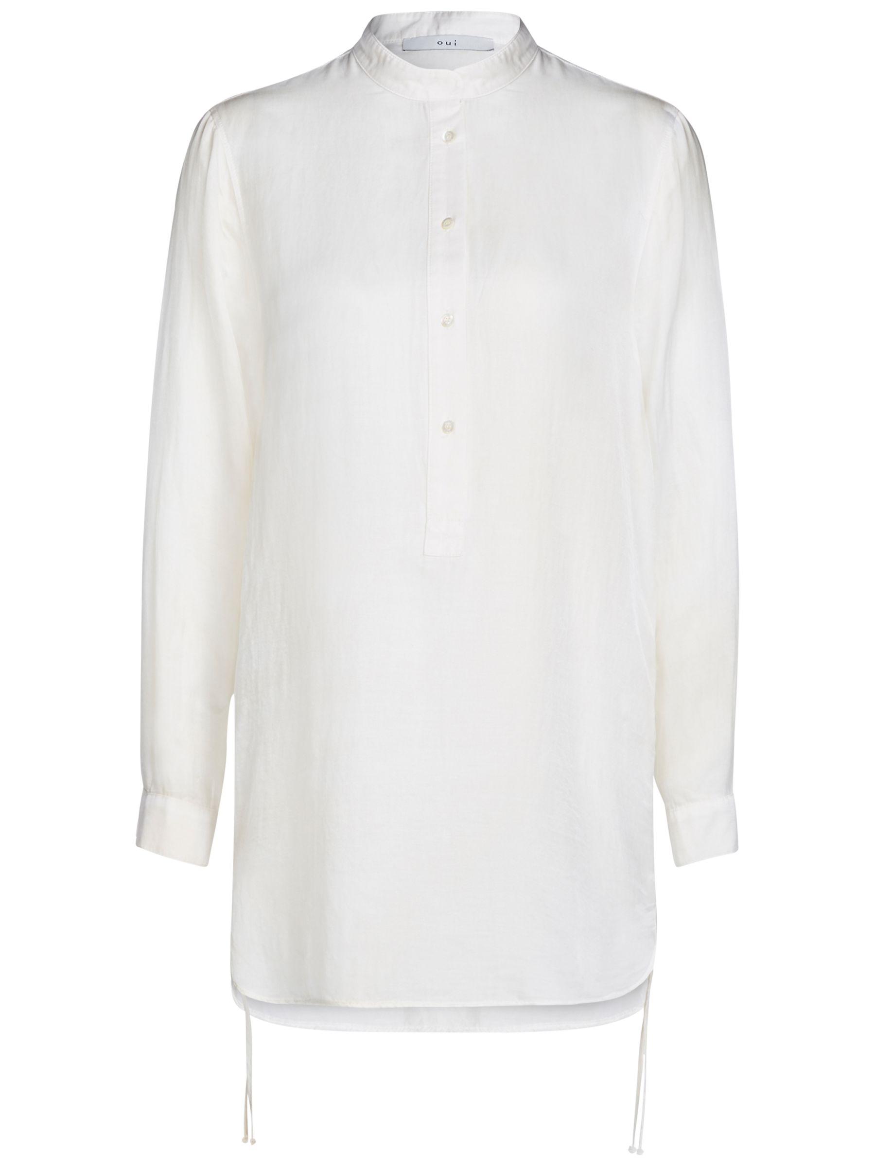 Oui Oui Drawstring Detail Shirt, Birch