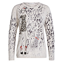 Buy Oui Lady Shipping Knit Jumper, Camel/Grey Online at johnlewis.com