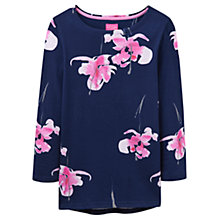 Buy Joules Harbour 3/4 Sleeve Printed Jersey Top, Navy Orchid Online at johnlewis.com