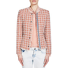 Buy Oui Tweed Jacket, Red/Off White Online at johnlewis.com