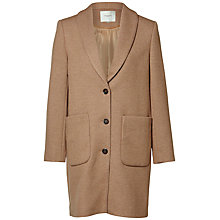 Buy Selected Femme Findy Wool-Blend Coat, Camel Online at johnlewis.com