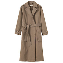 Buy Toast Cotton Twill Trench Coat, Mink Online at johnlewis.com