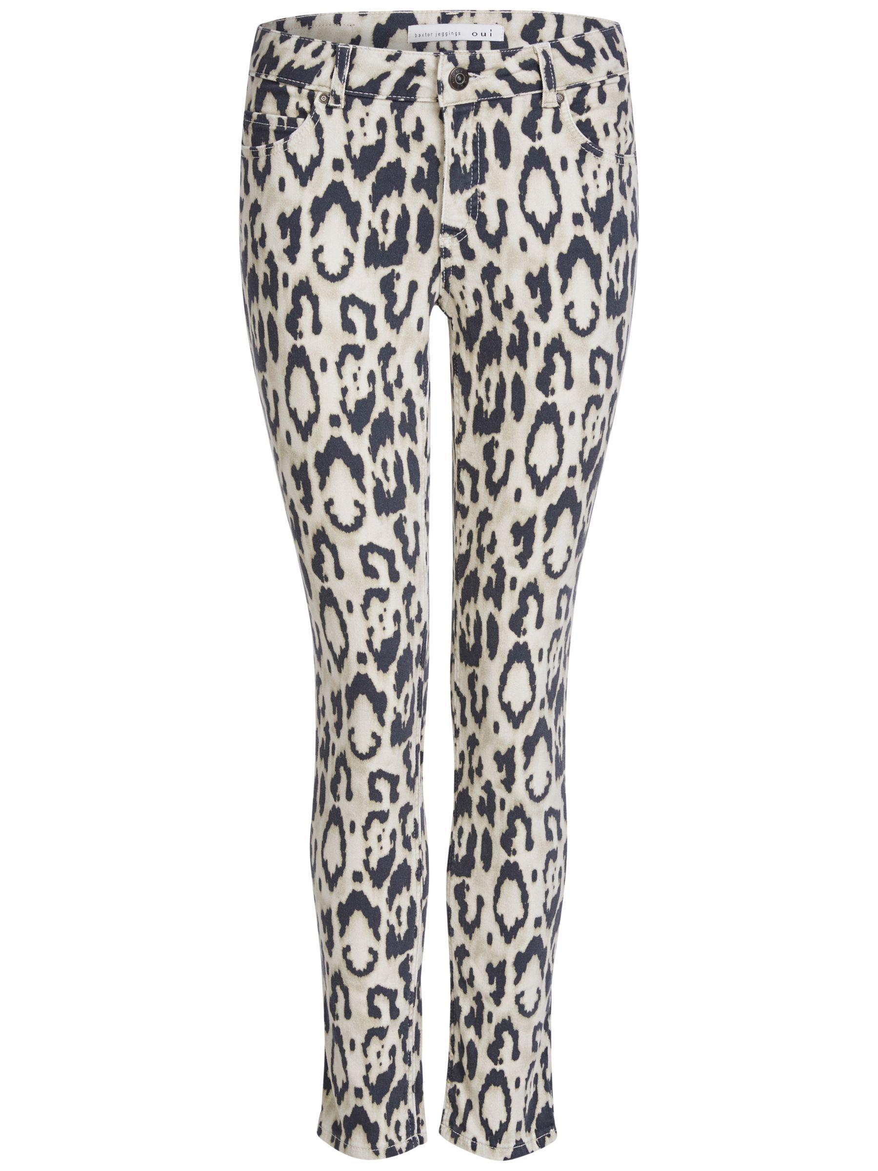 Oui Oui Animal Jeans, Camel Grey