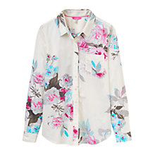 Buy Joules Lucie Semi-Fitted Printed Shirt, Creme Bloom Online at johnlewis.com
