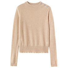 Buy Toast Button Detail Jumper, Almond Online at johnlewis.com