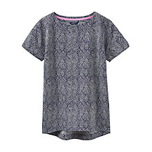 Buy Joules Milla Textured Top, Navy/Creme Online at johnlewis.com