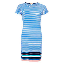 Buy Barbour Harewood Stripe Jersey Dress, Blue Online at johnlewis.com
