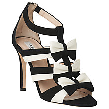 Buy L.K. Bennett Issie Bow Multi Strap Sandals, Black/Cream Online at johnlewis.com