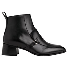 Buy Whistles Century Saddie Low Block Heel Pointed Ankle Boots, Black Online at johnlewis.com