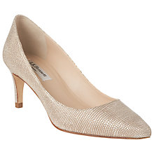 Buy L.K. Bennett Florida Pointed Toe Court Shoes, Platinum Blush Online at johnlewis.com
