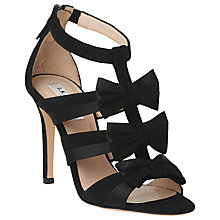 Buy L.K. Bennett Issie Bow Multi Strap Sandals, Black Online at johnlewis.com