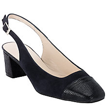Buy John Lewis A Casa Sling Back Court Shoes, Navy Online at johnlewis.com