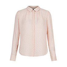 Buy Hobbs Calla Printed Shirt, Soft Pink Online at johnlewis.com