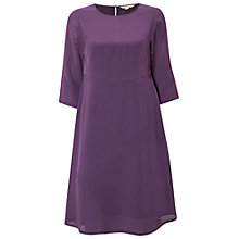 Buy White Stuff Nicole Dress Plain, Purple Online at johnlewis.com