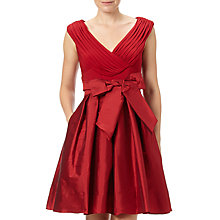 Buy Adrianna Papell Draped Top Fit And Flare, Chili Pepper Online at johnlewis.com