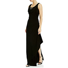 Buy Adrianna Papell Side Drape Gown, Black Online at johnlewis.com