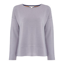 Buy White Stuff Textured Jersey Top, Mineral Grey Online at johnlewis.com
