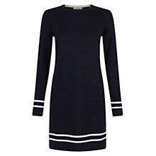 Buy Hobbs Alannah Dress, Navy/Ivory Online at johnlewis.com