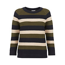 Buy Hobbs Anya Jumper, Navy/Multi Online at johnlewis.com
