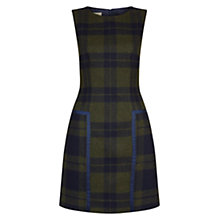 Buy Hobbs Abbey Check Dress, Khaki/Navy Online at johnlewis.com