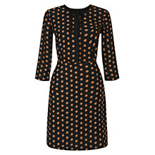 Buy Hobbs Ariela Dress, Vicuna Black Online at johnlewis.com