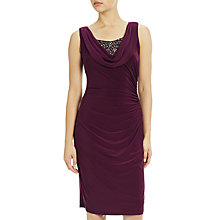Buy Adrianna Papell Side Drape Cocktail Dress, Mulberry Online at johnlewis.com