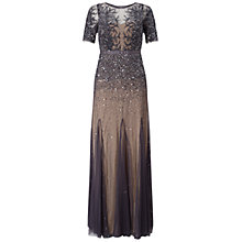 Buy Adrianna Papell Fully Beaded Gown, Gunmetal Online at johnlewis.com