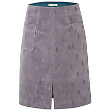 Buy White Stuff Senna Velvet Embroidered Skirt, Grey Online at johnlewis.com