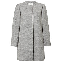 Buy White Stuff Ria Ribbed Coat, Mineral Grey Online at johnlewis.com