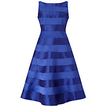 Buy Adrianna Papell Sleeveless Mikado And Satin Stripe Party Dress, Neptune Online at johnlewis.com