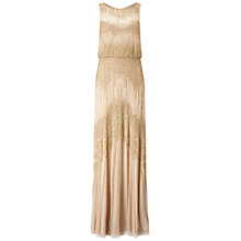 Buy Adrianna Papell Sleeveless Blouson Gown, Champagne/Gold Online at johnlewis.com