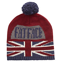 Buy Fat Face Children's Union Jack Beanie Hat, Red Online at johnlewis.com