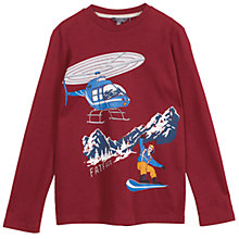 Buy Fat Face Boys' Long Sleeve Helicopter T-Shirt, Red Online at johnlewis.com