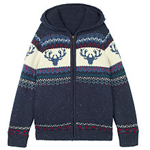 Buy Fat Face Boys' Hayling Long Sleeve Zip Up Hoodie, Navy Online at johnlewis.com
