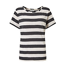 Buy Maison Scotch Loose Fit Stripe T-Shirt Online at johnlewis.com
