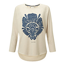 Buy Maison Scotch Loose Artwork Sweatshirt, Ecru Melange Online at johnlewis.com