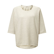 Buy Maison Scotch Home Alone Loose Fit Sweatshirt, Grey Melange Online at johnlewis.com