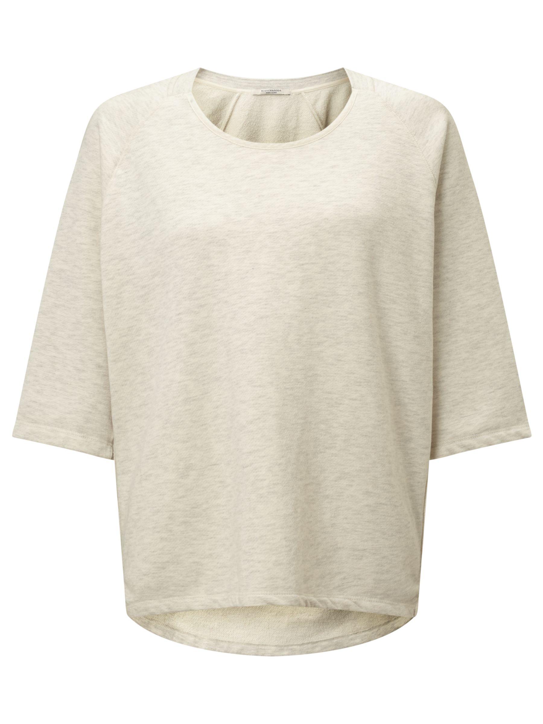 Maison Scotch Maison Scotch Home Alone Loose Fit Sweatshirt, Grey Melange