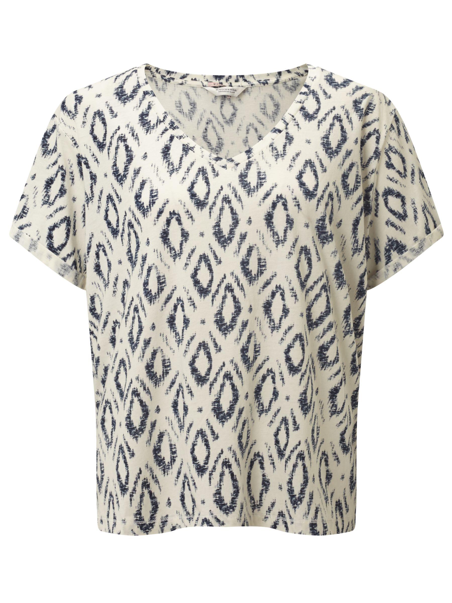 Maison Scotch Maison Scotch All-Over Printed T-Shirt